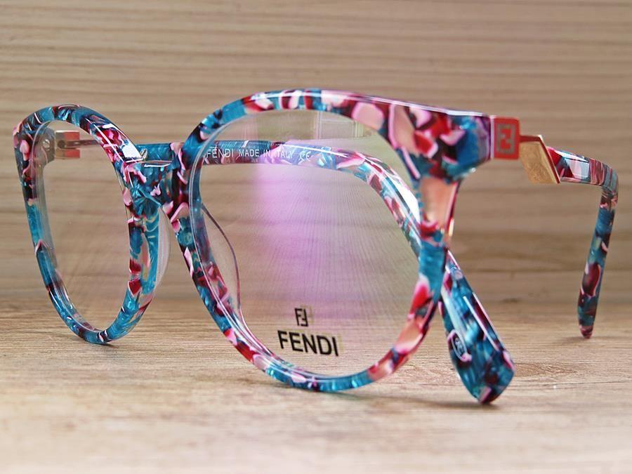 4ea8e7def Armação de Óculos FENDI Florida Modelo Fendi FF0202 COL 09 51 19-140 estilo  redonda
