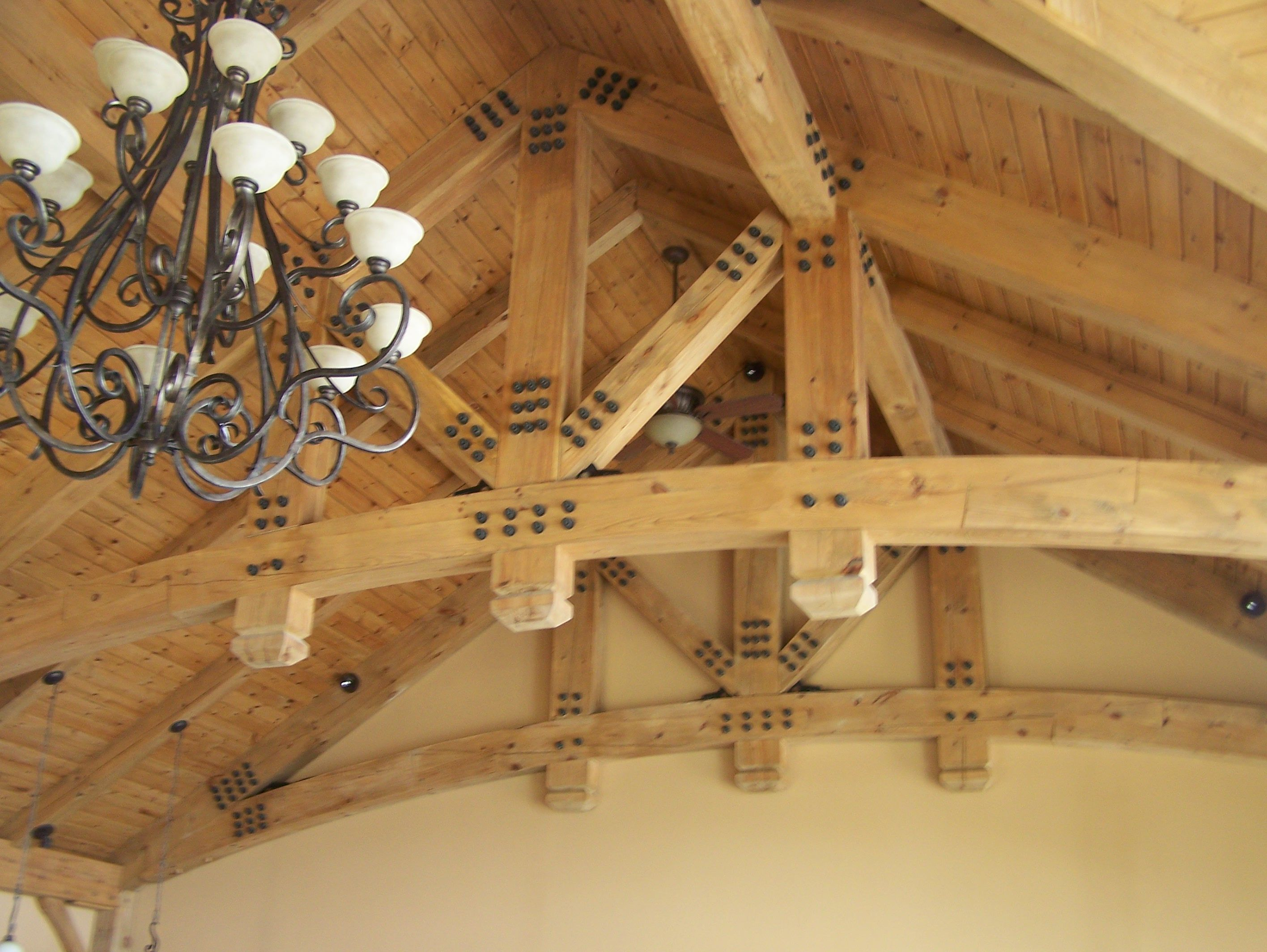 Timber Frame Ceiling Accent Within Our Beach House #TimberFrame #Log #Custom #Accent #BeachHouse #DiscoveryDreamHomes