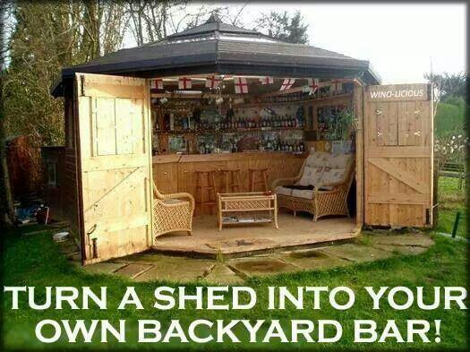 Back yard bar!