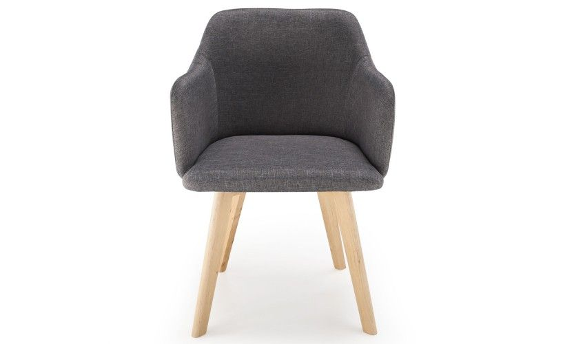 Chaise style scandinave Candy Tissu Gris Foncé | Chaise