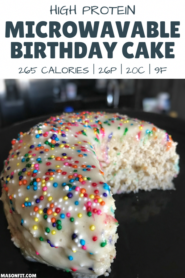 A mug cake recipe for high protein birthday cake that's ...