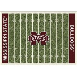 Mississippi State Bulldogs Football Field Rug Novelty Rugs Rugs