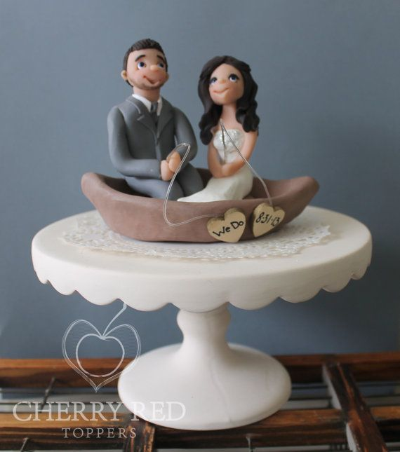 boat wedding cake topper wedding cake topper with aluminum fishing boat by 1991