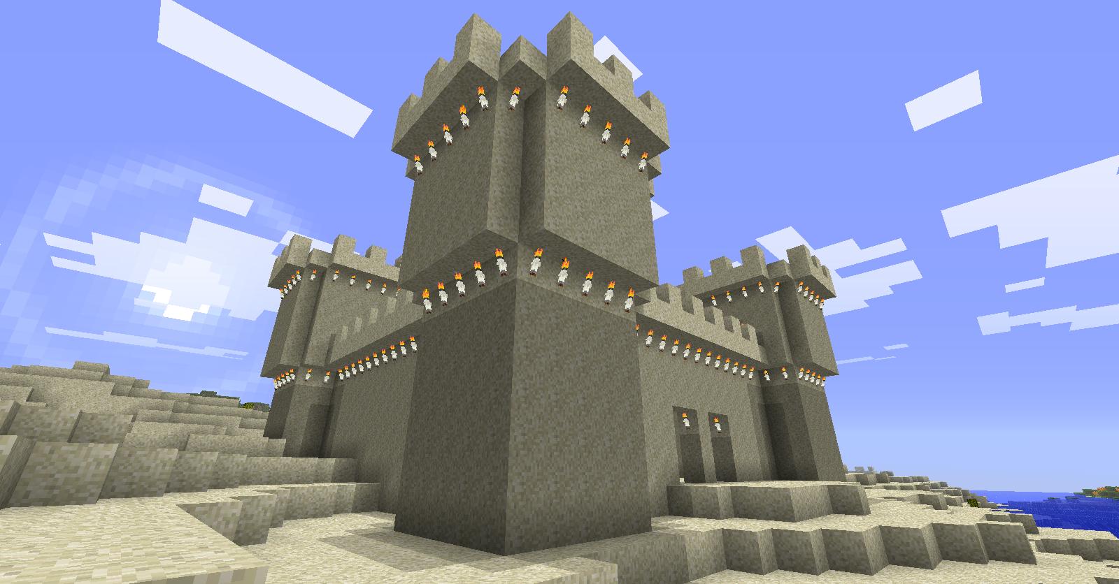 minecraft sand castle blueprints - Google Search   Build-Projects