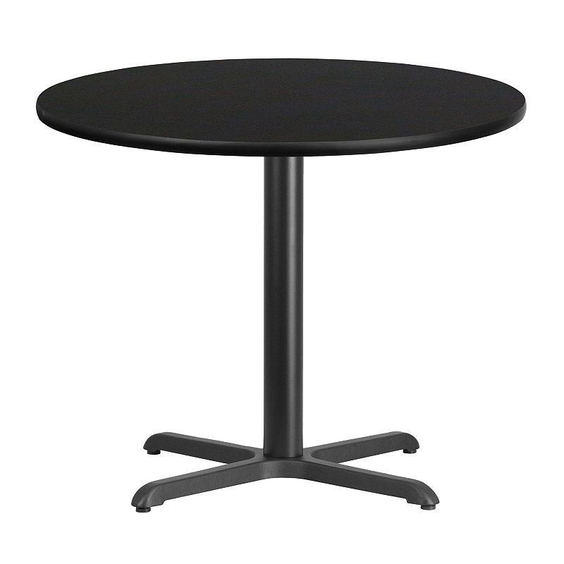 36 round laminate table top with 30 x 30 table height base rh pinterest com