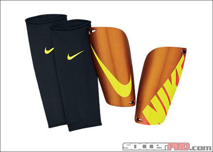 Nike Mercurial Lite Shin Guard - Orange with Volt... 19.99  faf8f7e23604f