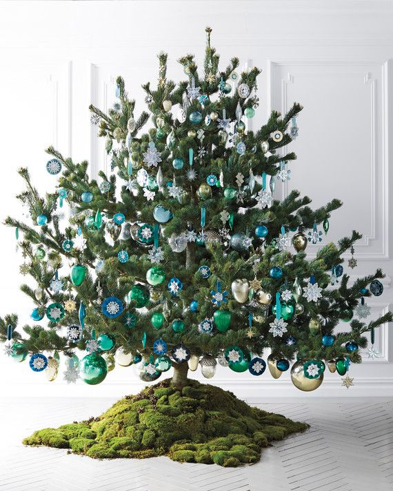 The ornaments on this Japanese pine tree, decorated by editor in chief Eric  Pike, span decades. The branches are hung with his collection of glass  kugels, ... - Enchanted Forest: Christmas Tree Ideas By