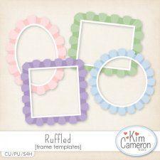 ruffled frames templates by kim cameron