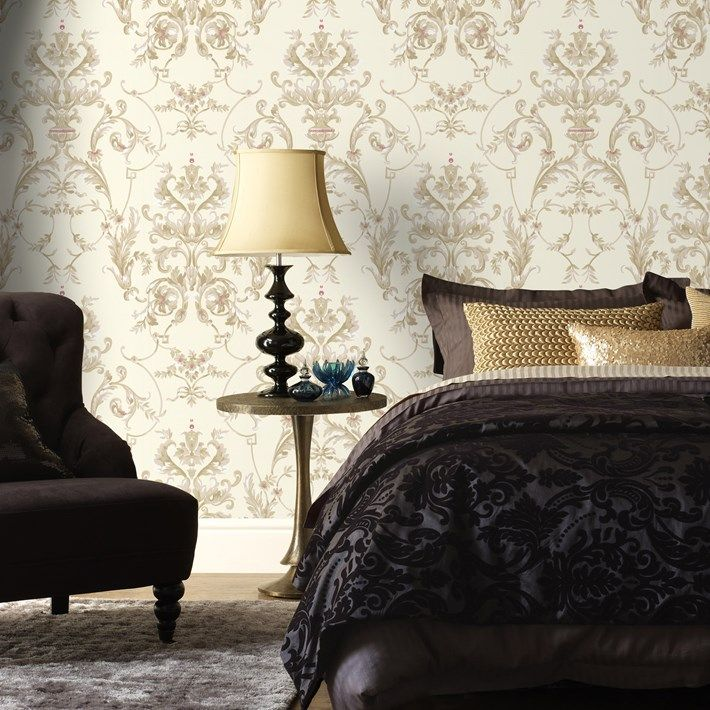 Room Bewitched Damask Wallpaper Designer Damask