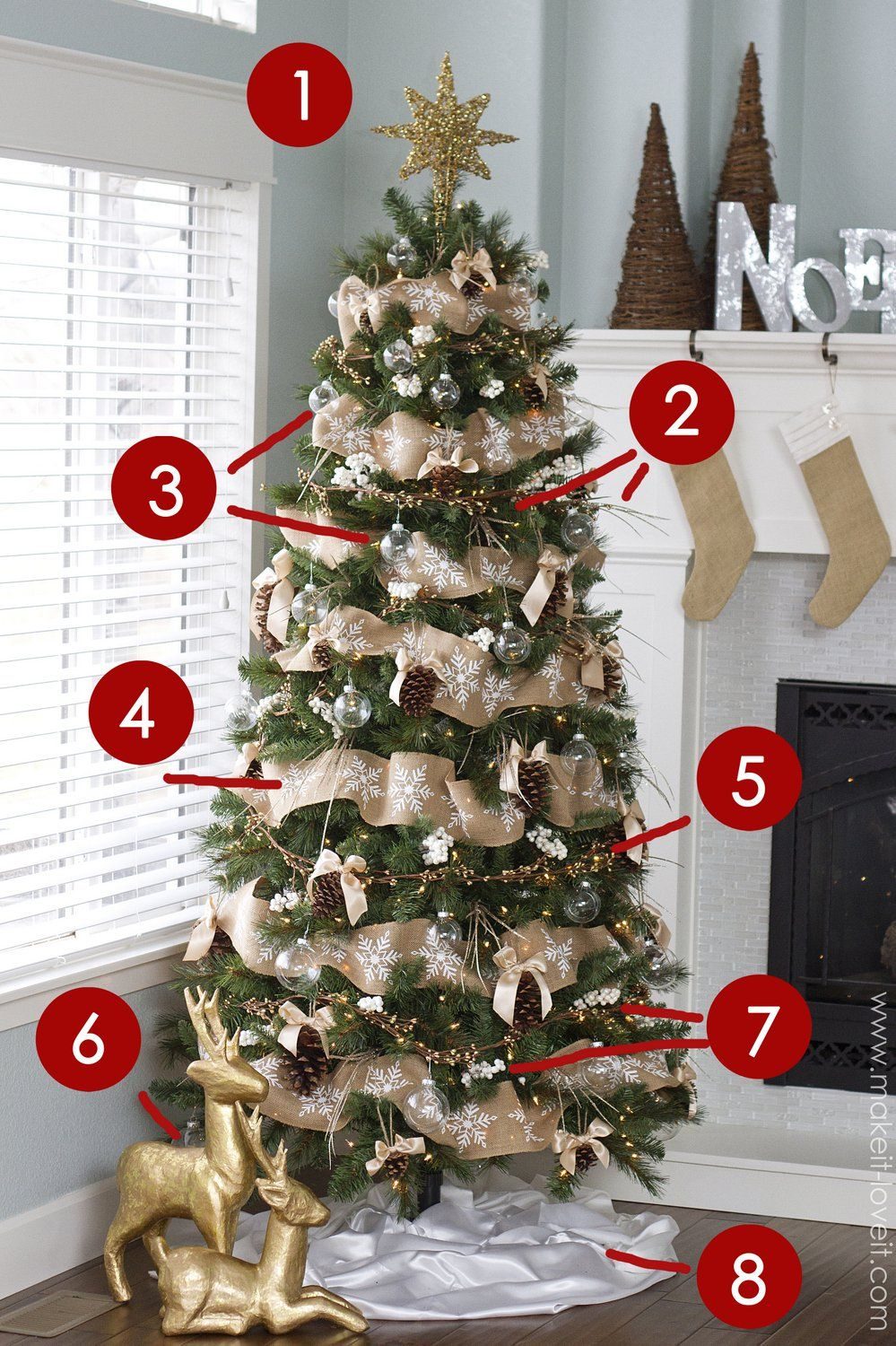 Pine Cone Bow Ornamentand other Dream Tree