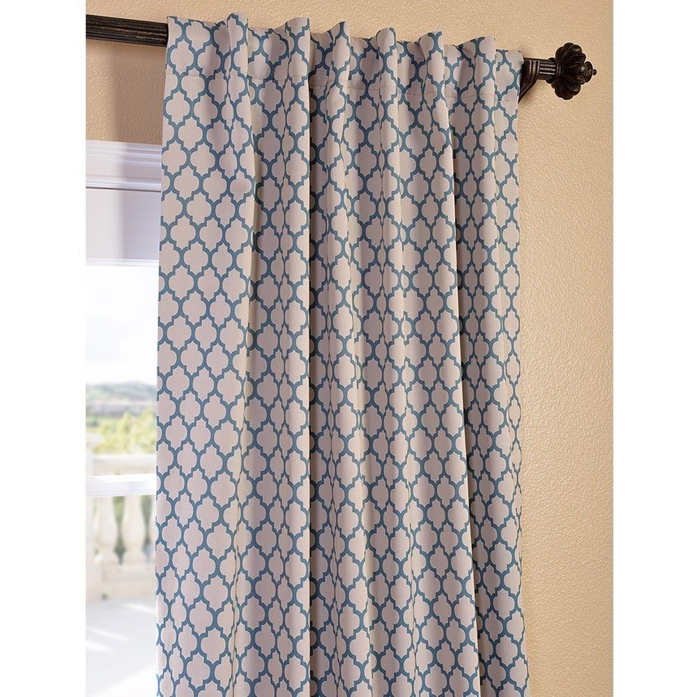 casablanca teal pole pocket blackout curtain panel overstock com rh pinterest com