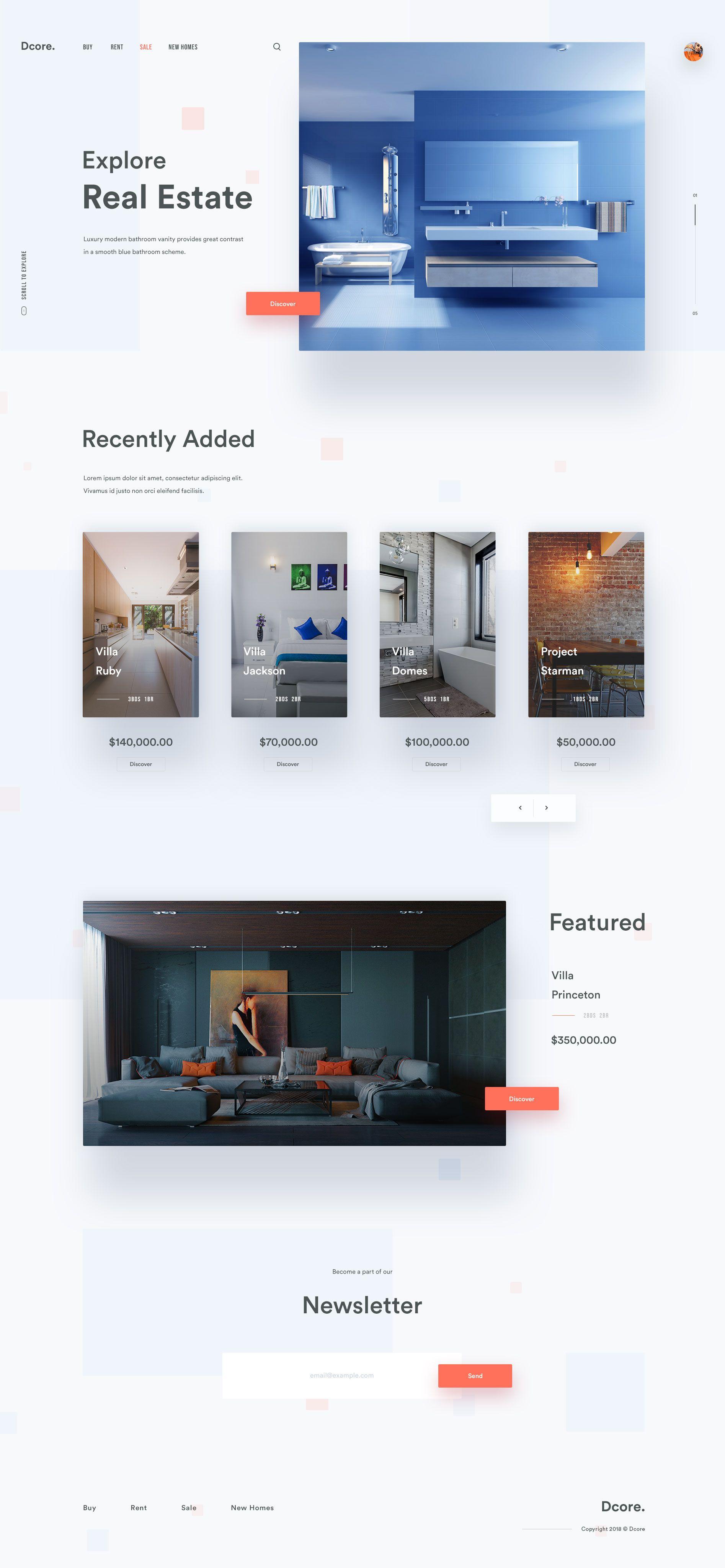 Dcore Website Att Corporate Website Design Modern Website Design Real Estate Website Design