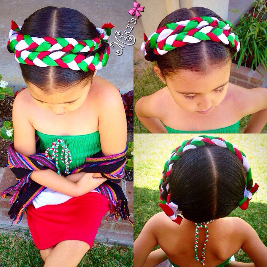 5 De Mayo Hairstyle Trenzas En Pelo Corto Peinados Mexicanos Peinados Cabello Corto Nina