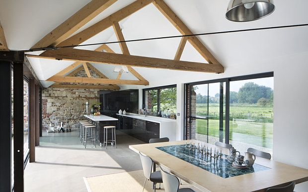 Interiors A Light Filled Contemporary Barn Conversion Contemporary Barn Modern Barn Interior Barn House Interior