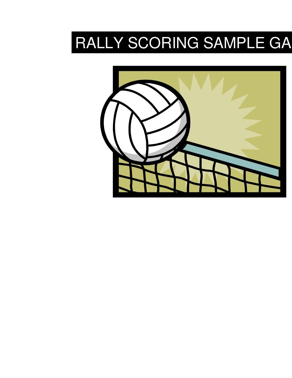 Volleyball Scoring With Scoresheet Volleyball Scoring Volleyball 9 Year Olds
