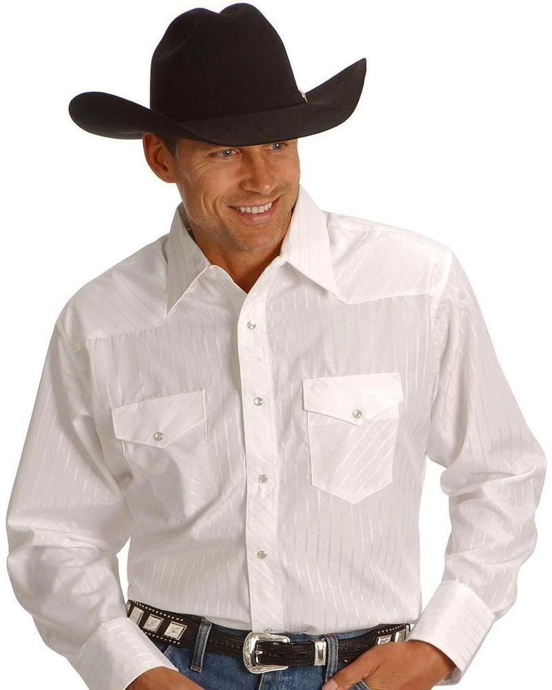 Wrangler Boys Dress Western Stripe Long Sleeve Shirt