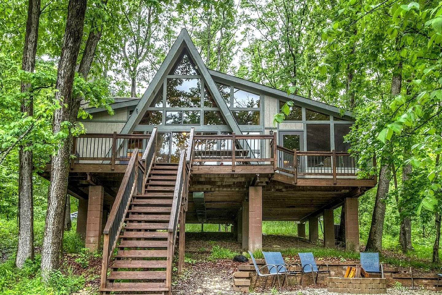 Family Friendly Lakefront Cabin With Gorgeous Views Near Columbia Missouri A Frame Cabin A Frame House Cabin