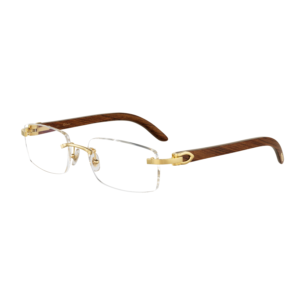 20c0dc378584 C Decor wood Cartier Glasses Men