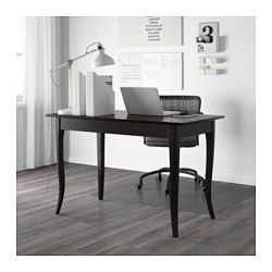 ikea leksvik desk solid wood is a durable natural material rh pinterest com
