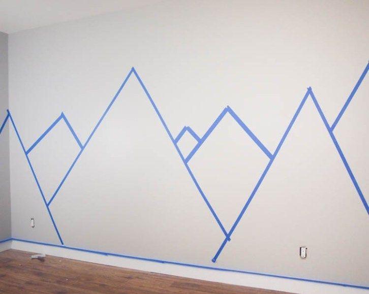 DIY Nursery Mountain Mural - Hello YELLOW