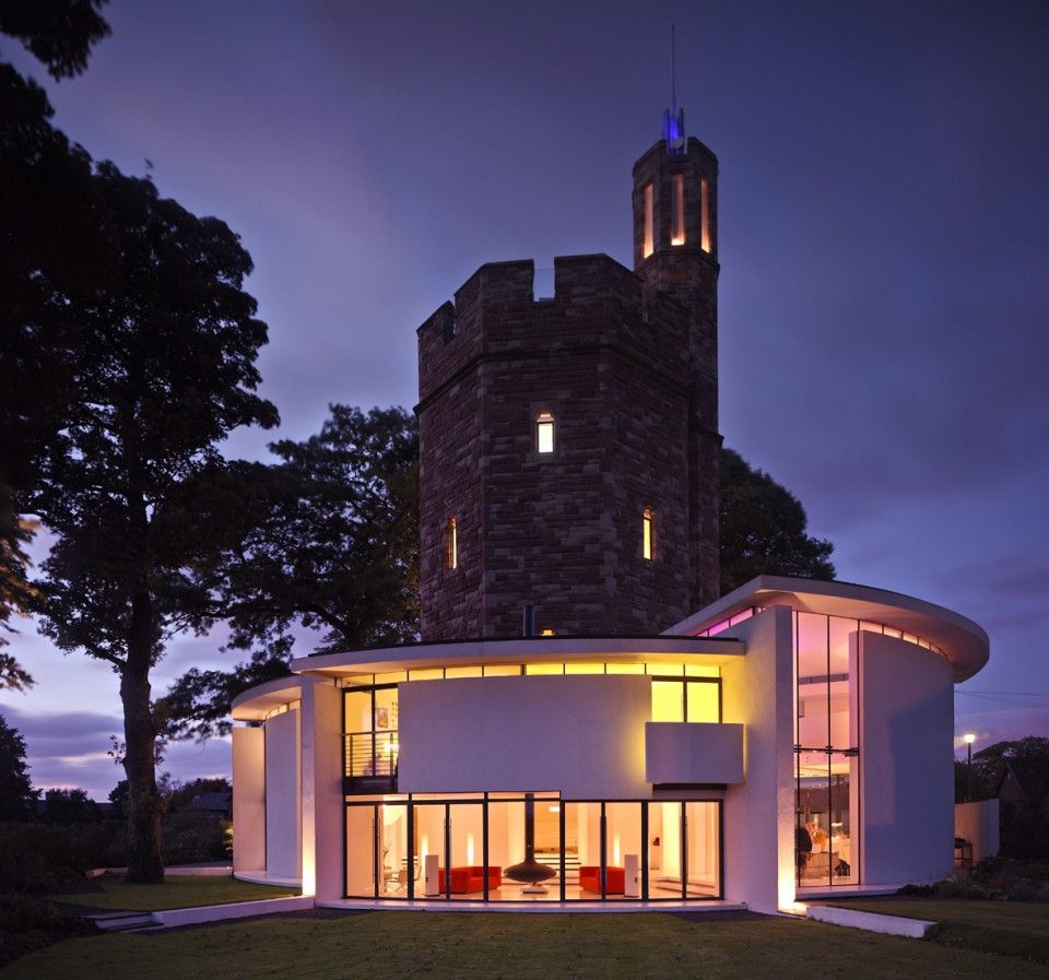 Lymm Water Tower is the award winning renovation of a once derelict on stone building home, quonset hut home, stone castle home, stone arch home, stone cave home, stone wall home, stone temple home,