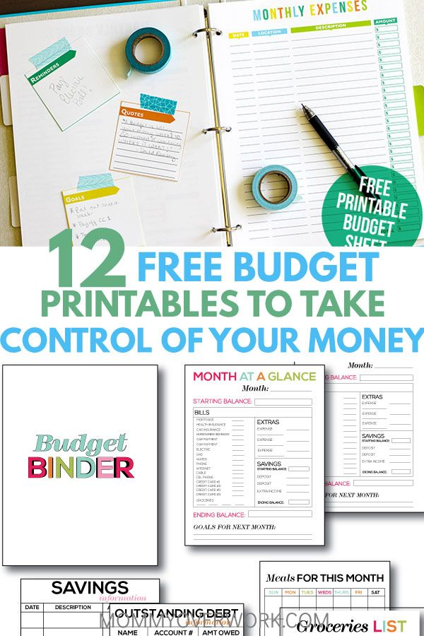 12 Free Printable Budget Worksheets to GET CONTROL OF YOUR MONEY - How To Make A Household Budget Spreadsheet