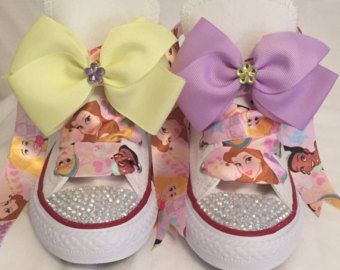 Cute character bling converse by BeausBouquets on Etsy