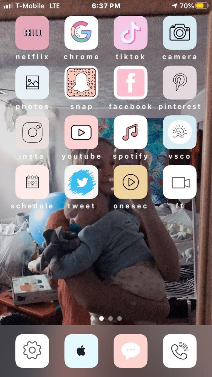 custom app icon, wallpaper, custom apps, aesthetic in 2020