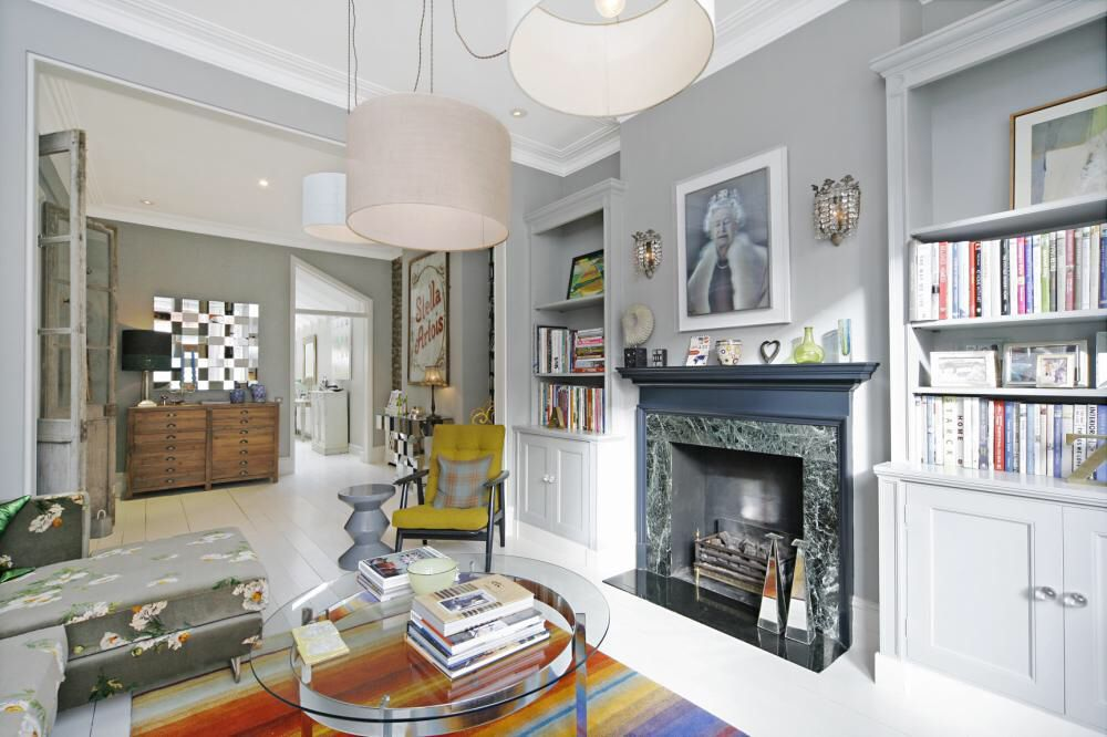 Pin By Victoria On New Home Inspiration Long Living Room Victorian Living Room Open Plan Living Room