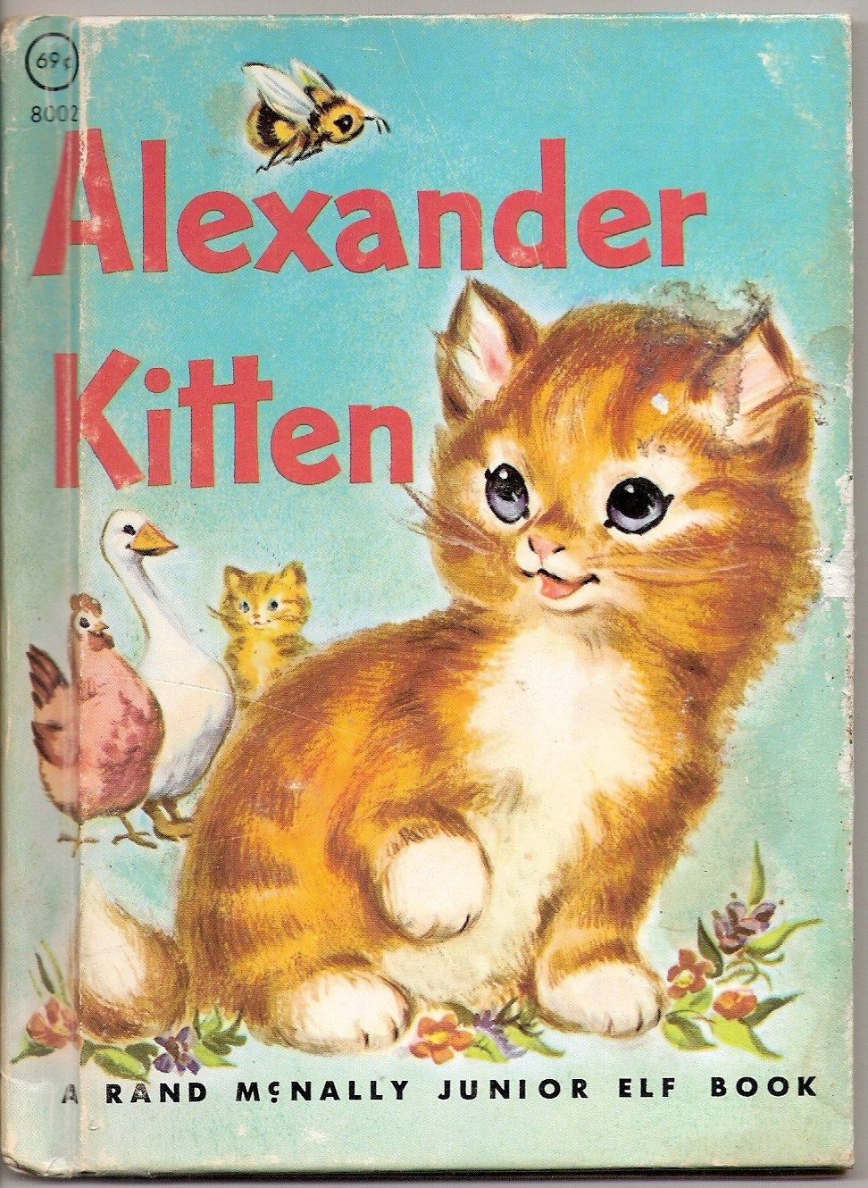 Alexander Kitten Vintage Rand Mcnally Junior Elf Book Illustrated By Marge Opitz 1959 Kittens Vintage Old Children S Books Children S Book Illustration
