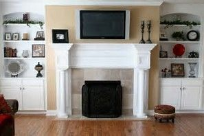 image result for bookshelf next to fireplace fireplace pinterest rh pinterest com