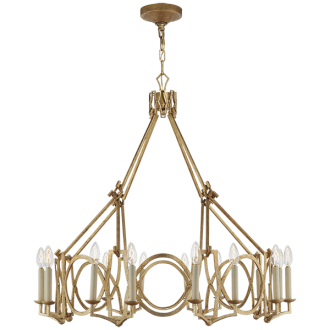 """BRITTANY CHANDELIER Height: 34.25"""" * Width: 37.25"""" Canopy: 5"""" Round Chain: Ships With 6 ft. of Chain Socket: 16 - Candelabra Wattage: 16 - 60 C"""