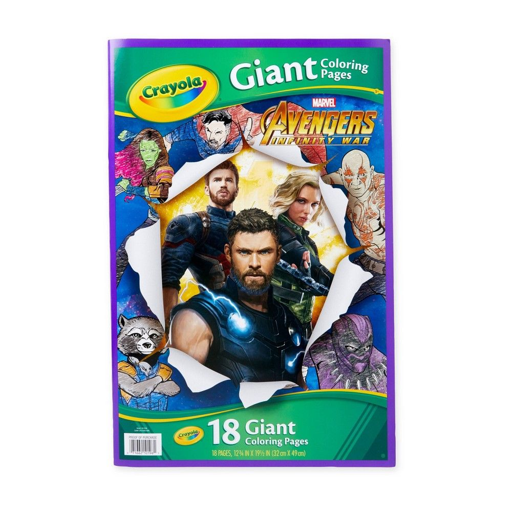 Crayola 18pg Avengers Giant Coloring Pages Coloring Pages Barbie Coloring Pages Coloring Pages For Boys [ 1000 x 1000 Pixel ]