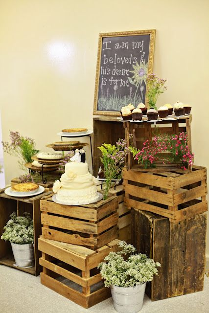 Dessert Table. Rustic Wedding.