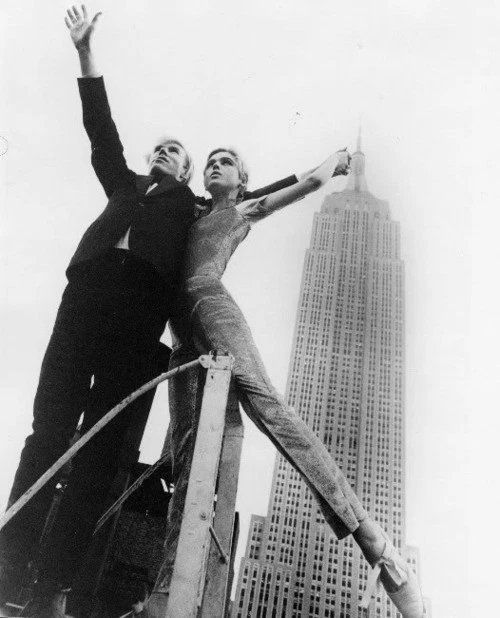Andy Warhol & Edie Sedgwick with Empire State Building New York, 1964 Photo: David McCabe ©