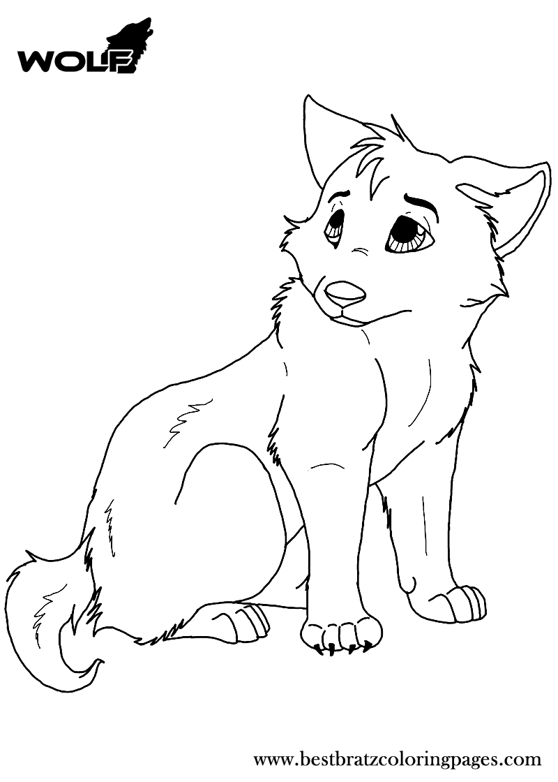 Free Printable Wolf Coloring Pages For Kids | eva | Pinterest | Free ...