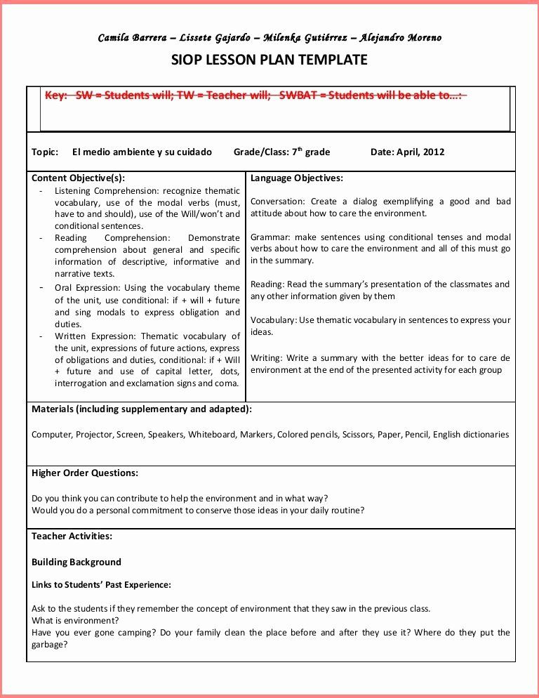 Hunter Lesson Plan Template In 2020 Lesson Plan Templates