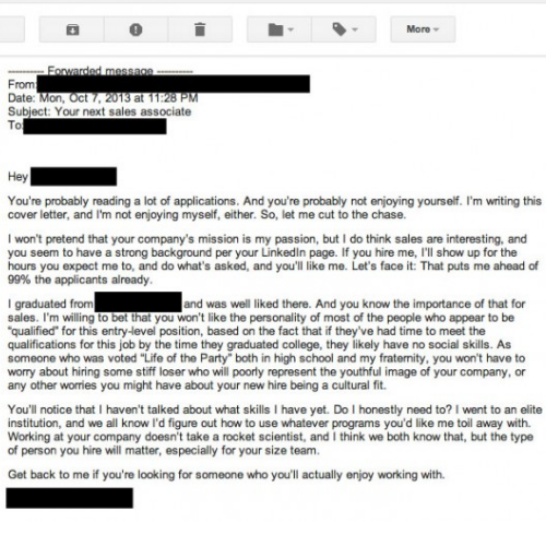 bad cover letters