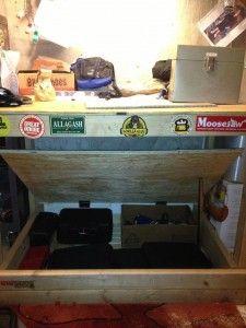 Hidden Storage Compartment Under Workbench Shelf