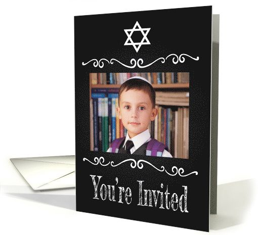 Retro custom photo invitation for jewish confirmation ceremony card retro custom photo invitation for jewish confirmation ceremony card m4hsunfo