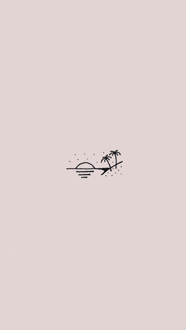 simple beach screensaver | Wallpaper doodle, Simple ...