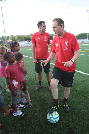 Camden Youth Receive Soccer Training From England S Liverpool Football Club Photos Soccer Training Liverpool Football Club Football Club