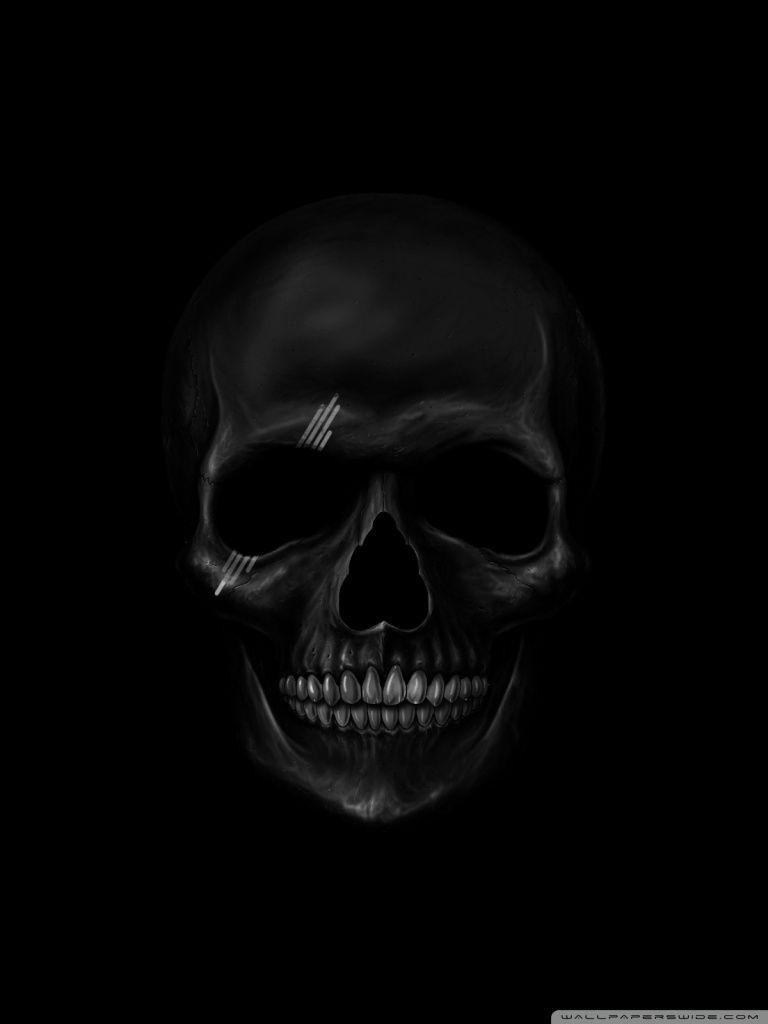 Pin By Amber On Art Black Skulls Wallpaper Cool Black Wallpaper Skull Wallpaper