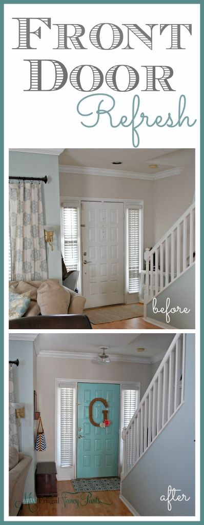 Front Door Refresh Miss Frugal Fancy Pants Front Door Home Fix Home