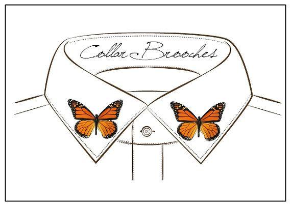 Butterfly Collar Pins  Brooches / Blouse & di CreazioniKawaiiShop