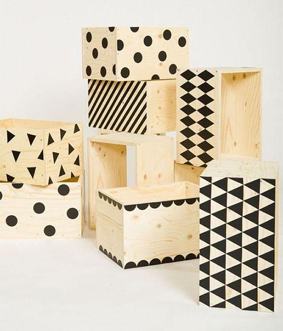 10 idées de projets DIY avec des caisses de bois Deco Pinterest - peinture en bombe pour bois