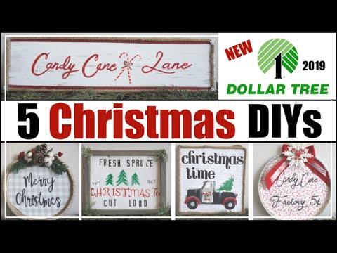 DOLLAR TREE CHRISTMAS DIY Decor 2019   5 Dollar Tree Christmas DIYs   Momma From Scratch - YouTube #dollartreecrafts