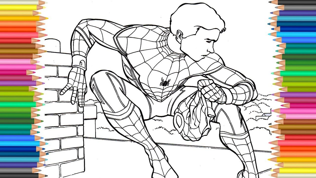 Spider Man Homecoming Coloring Page L Coloring Markers Videos For