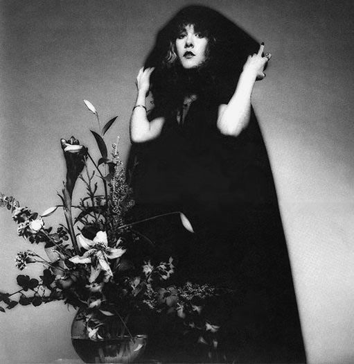 Stevie in a cape, early 80's. Photo: HWIII, courtesy of Rosemary Canteli.