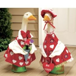 Front Porch Geese In Clothes Terrible Holiday Decor Christmas